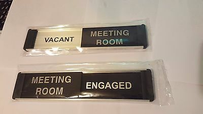 Sliding Door Sign. Vacant Meeting Room /Engaged .