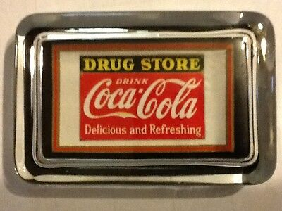 Coca Cola Drug Store Soda Fountain Pharmacy Medical Medicine Sign PAPERWEIGHT
