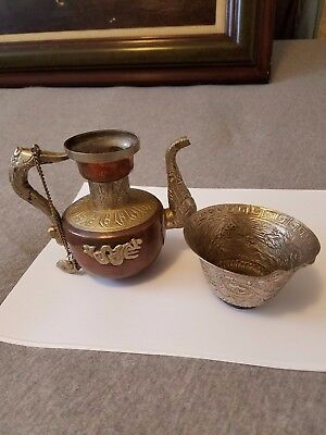 Estate Antique Chinese Tea pot and cup