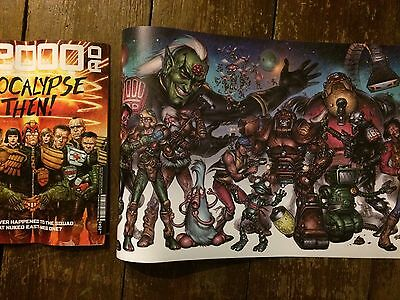 2000ad Ultimate Collection Boo Cook Poster Print HUGE 132X30cm Judge Dredd Art