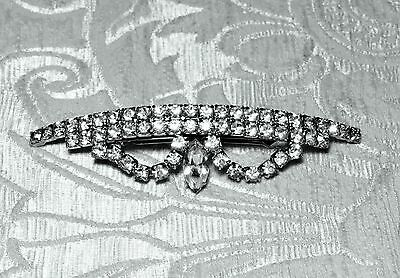 Fermacapelli Made in France con strass Hairclip Pince à Cheveux Haarspange c1960