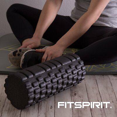 Foam Roller Muscle Roller for Physical Therapy Massage Roll Black High Density