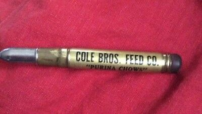 Advertising bullet pencil Purina Chows-Cole Bros Buford, NC