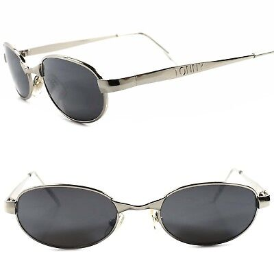 7b324246e60 Classic True Vintage 80s 90s Urban Old Fashion Mens Silver Rectangle  Sunglasses