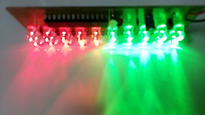 2PCS LED Assembled PCB Strobe Flash Light Show Effect for 9V Battery Green Red