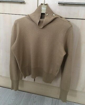 See by CHLOE camel high neck jumper sweater top 6/8 Net-a-porter