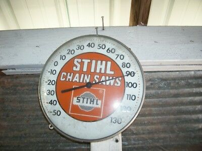"""Vintage STIHL  CHAINSAW  Thermometer / Sign advertising and  12"""""""