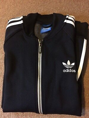 Adidas Originals Three Stripe Trefoil Tracksuit Top Jacket Zip Up Men's