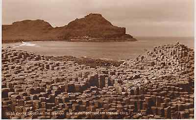 Old postcard of Giants Causeway