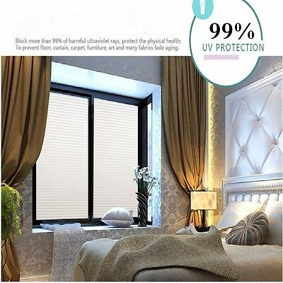 Privacy Frosted Film Frost Glass Home Window Striped Shutters Sticker PVC Modern