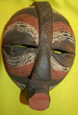 Antique Wooden African Mask