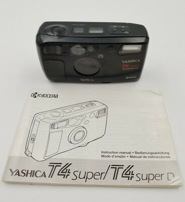 Yashica T4 Super Weatherproof 35mm Point & Shoot Film Camera
