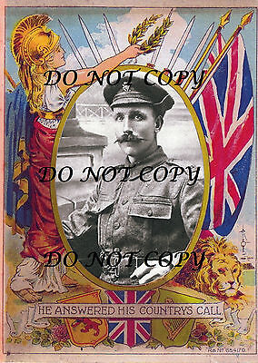"Robert Quigg  Victoria Cross Patriotic Print ""must See"" Uvf 36Th Ulster Division"