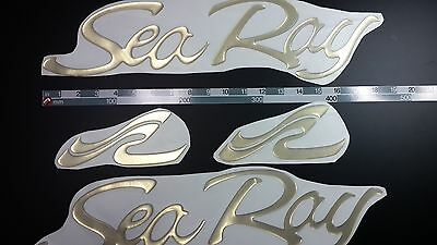 """SEA RAY boat Emblem 18"""" GOLD Epoxy Stickers Resistant to mechanical shocks"""