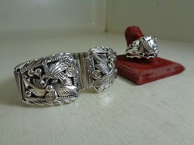 Eagle Watch Tips & Ring Size 12 No Stone .925 Sterling By Running Bear - RB