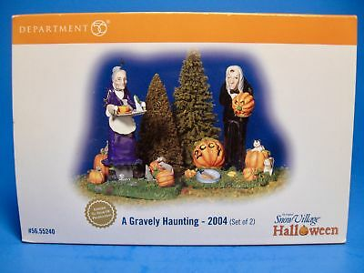 "Dept 56 ""Gravely Haunting"" HALLOWEEN Snow Village Accessory #56.55240 2004 MIB"