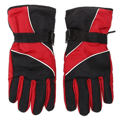 PF Men Ski Gloves Thermal Waterproof For Winter Outdoor Sports Snowboard (Red)