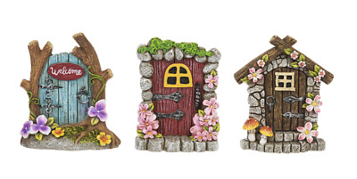 My Fairy Gardens Mini - Fantasy Fairy Doors - Set of 3 - Supplies Accessories