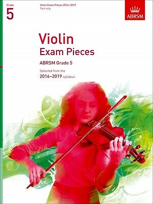 ABRSM Violin Exam pieces Grade 5, 2016-2019 syllabus.  Part only.  BRAND NEW !