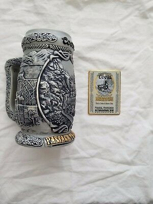 Coors Passage to Gold 2000 Beer Stein with Iron Horse Metal Card