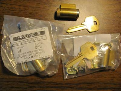 Lot Of 3 Lori Medium Security Key In Knob / Lever -Cylinders With 2 Extra Plug