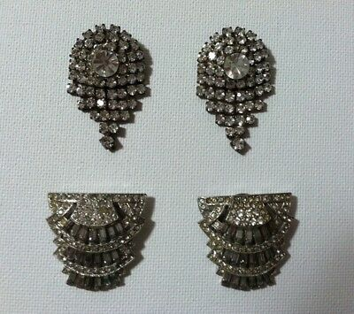 2 Pairs of Bling  Shoe Clips