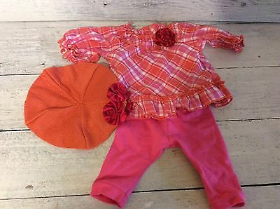 American Girl Bitty Baby Plaid Play Outfit- Shirt, Pants, Hat