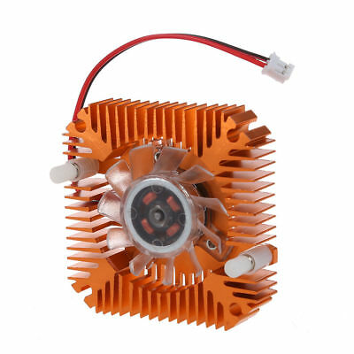 2 Pin 6cm 60mm Square 5.5CM PITCH Video Graphics VGA Cooler Cooling Fan Heatsink