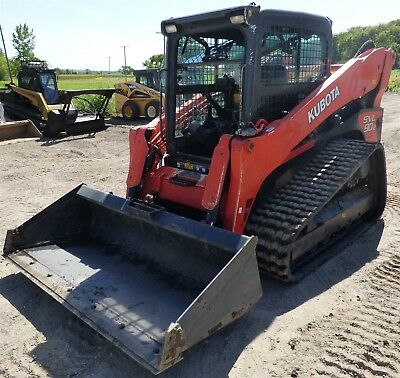 "2014 Kubota SVL90-2 Skid Steer Loader 80"" Bucket 92HP"