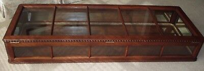 """Vintage Walnut-Mercantile-Tobacco-Store Cabinet Counter Display Showcase-66"""""""