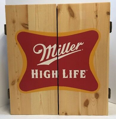 Miller High Life Wooden Dartboard Set