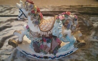 White Rocking Horse with Built-in Musical box (Pre-Owned)