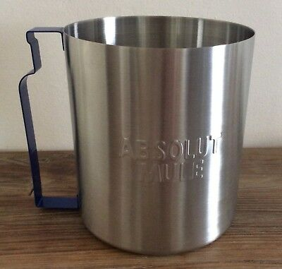 Absolut Vodka Ice Bucket Tip Jar Stainless Steel Mule Cup New