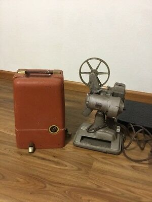 Vintage Revere Eight 8MM Film Projector Model 85 with case 1948