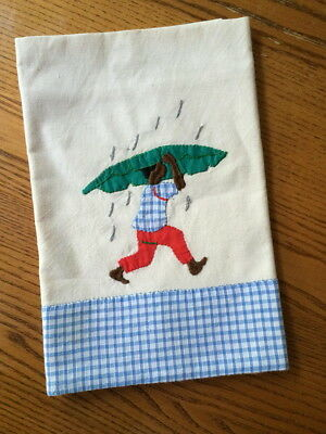 Vintage Black History Americana Boy Linen Kitchen Dish Towel