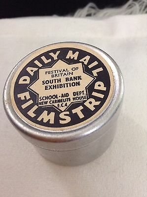 1951 Vintage Daily Mail FilmStrip & Tin. Festival Of Britain Exhibition AMAZING!