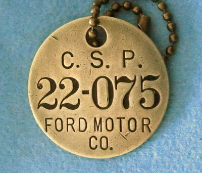 Vintage Tool Check Brass Tag: FORD CLEVELAND CSP Automotive