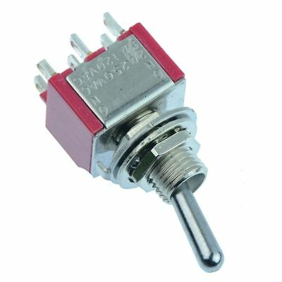 2 x On-On Miniature Toggle Switch 5A DPDT