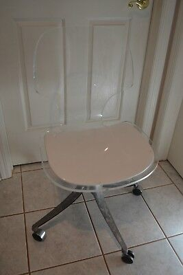 Rare Vintage 70's Hill Manufacturing Mid Century Modern Lucite Desk Chair