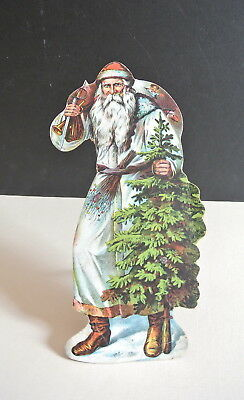 Large Victorian Christmas 1880's Stand Up Santa Claus Die Cut