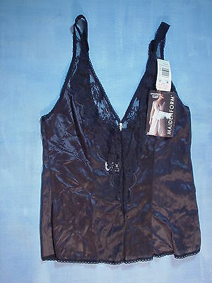 Vintage Maidenform 64104 Chantilly Lace Camisole Size 32 Black