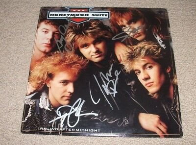 Honeymoon Suite - Signed Racing After Midnight Vinyl Lp Record! Band Autographed