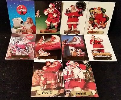 1994 Collect-A -Card Coca Cola Series 2 Santa Insert Set Of 10 (S11-S20) ~ Nm