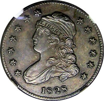 1828 Capped Bust Quarter     +++ Certified Ngc-Au +++     Detail
