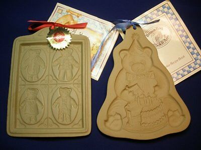 Set of 2 Brown Bag Cookie Art Molds