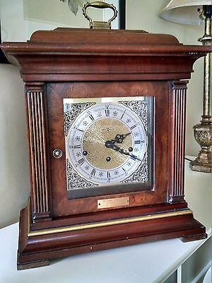 Howard Miller Wood Mantel Clock, Model 612436 Engraved Plate Mobil