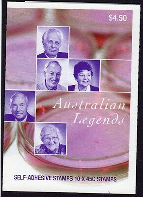2002 AUSTRALIAN LEGENDS STAMP BOOKLET MEDICAL SCIENTISTS  10 x 45c STAMPS MUH