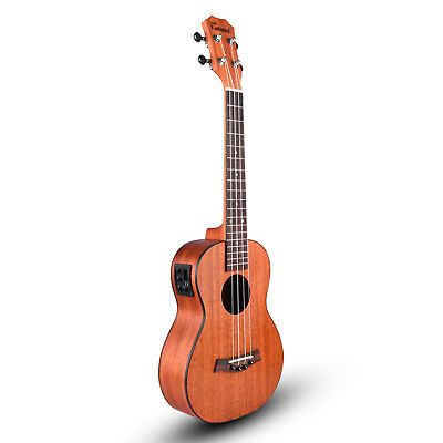 Caramel CT402 All Solid Mahogany Tenor Acoustic Electric Ukulele With Truss Rod