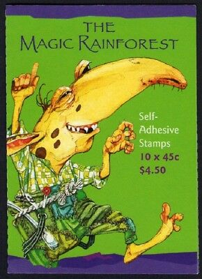2002 AUSTRALIAN STAMP BOOKLET THE MAGIC RAINFOREST 10 x 45c STAMPS MUH