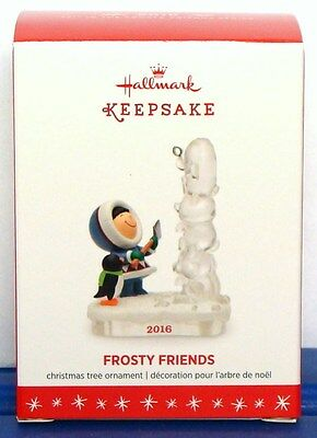 Hallmark 2016 Frosty Friends Christmas Ornament Series #37 Totem Ice Sculpture